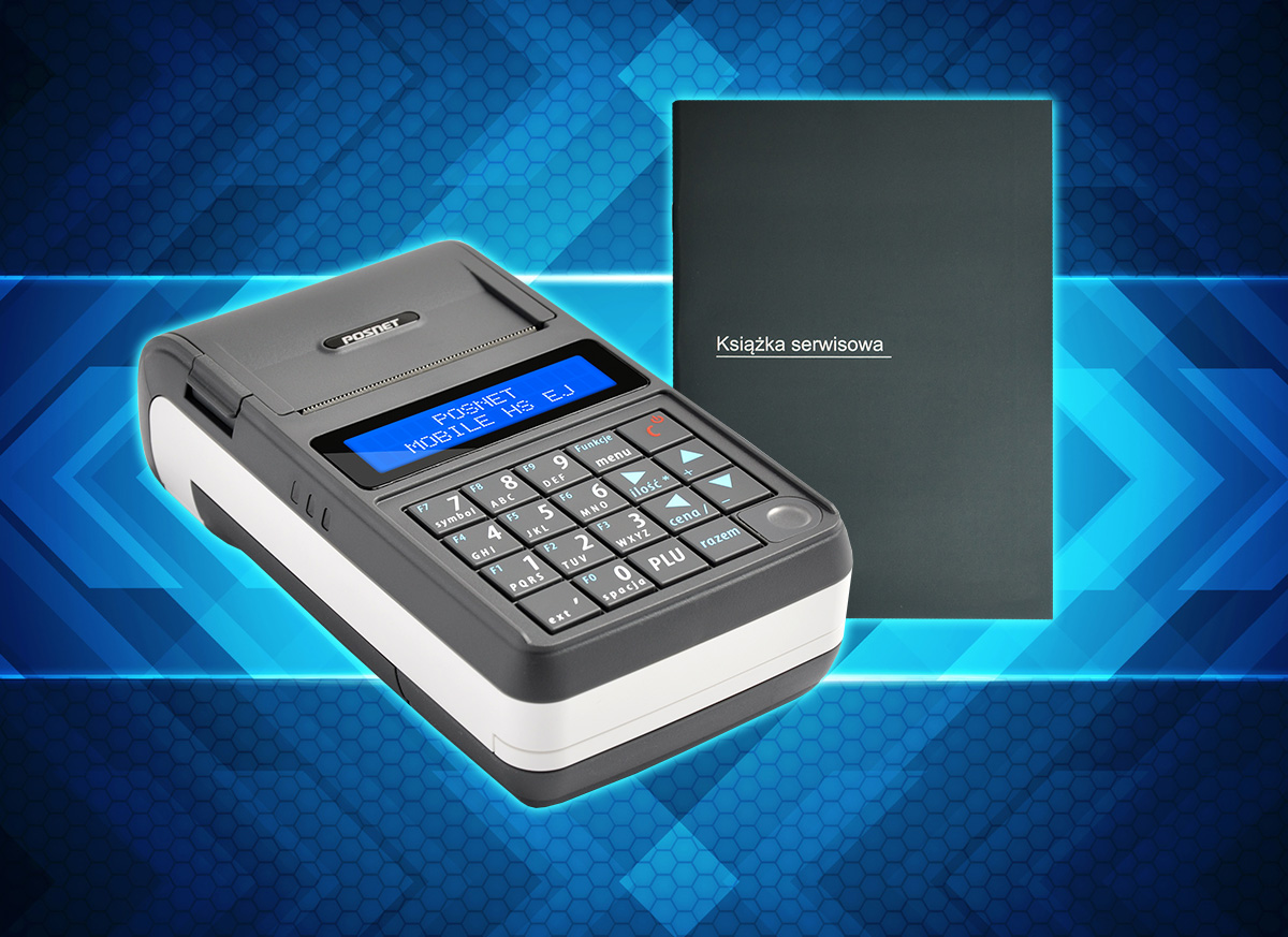 Kasa fiskalna Posnet Mobile HS EJ z książką serwisową
